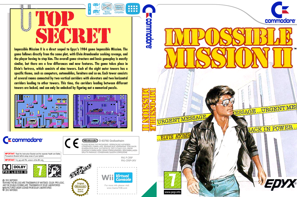 Impossible Mission II Wii coverfullHQ (C9SP)