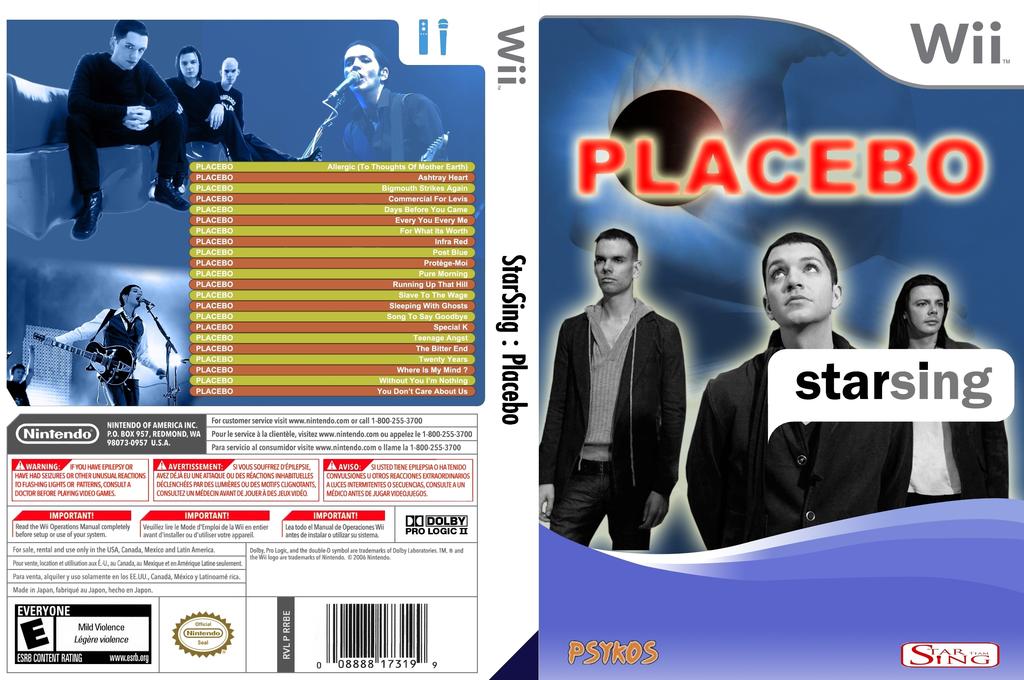 StarSing:Placebo v2.0 Wii coverfullHQ (CS2P00)