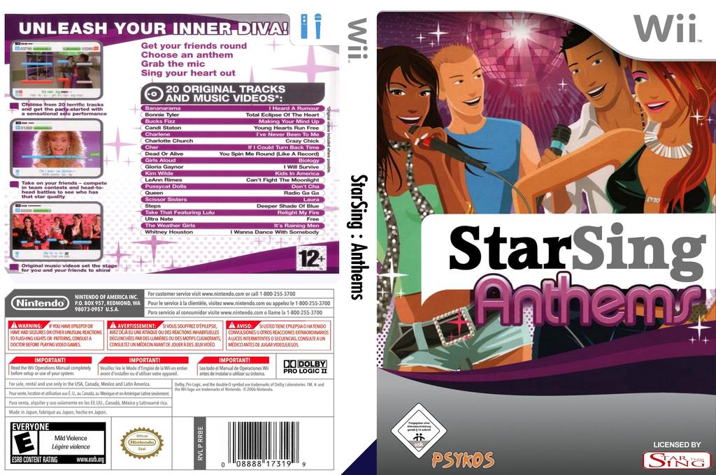 StarSing:Anthems v2.0 Wii coverfullHQ (CS3PZZ)