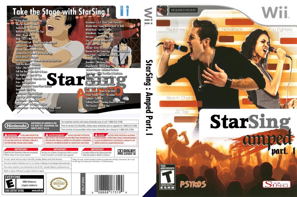StarSing:Amped Part. I v2.0 Wii coverfullHQ (CS6PZZ)