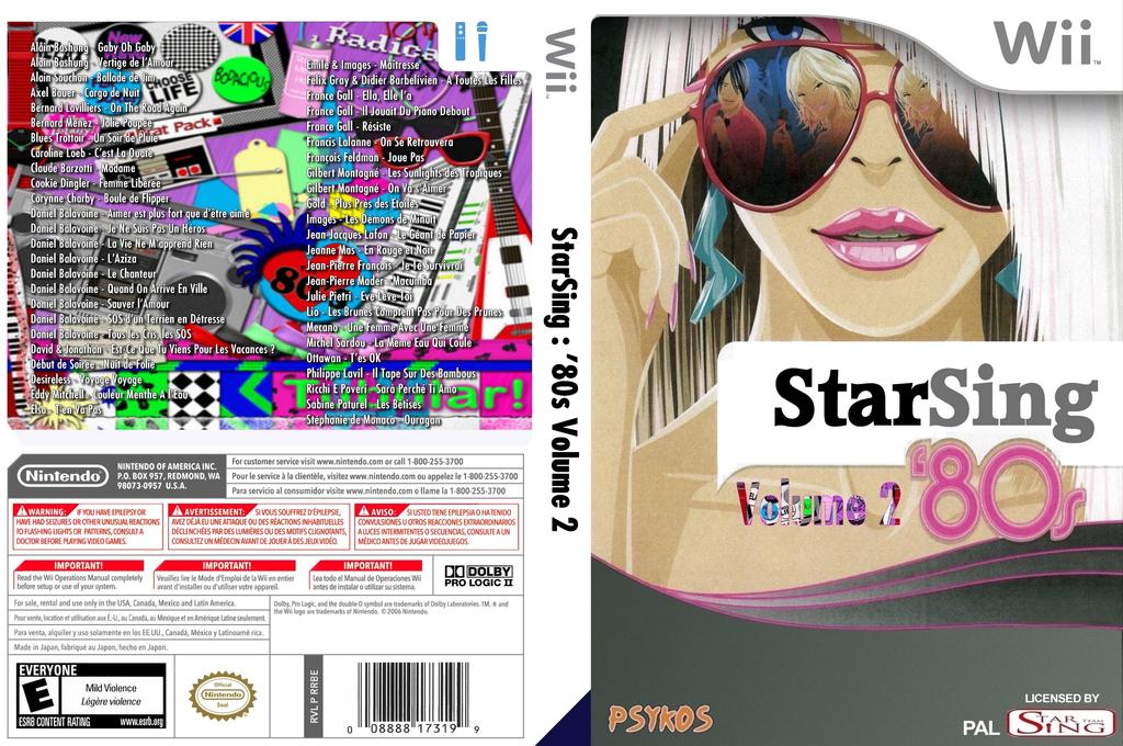StarSing:'80s Volume 2 v2.2 Wii coverfullHQ (CS9P00)