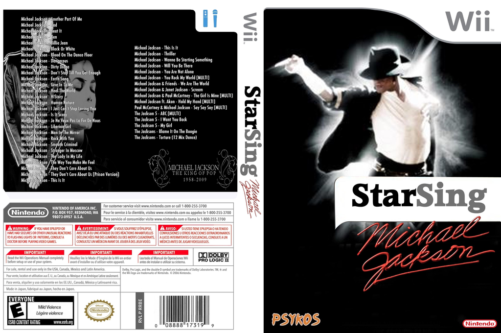 StarSing:Michael Jackson v2.2 Wii coverfullHQ (CSCP00)