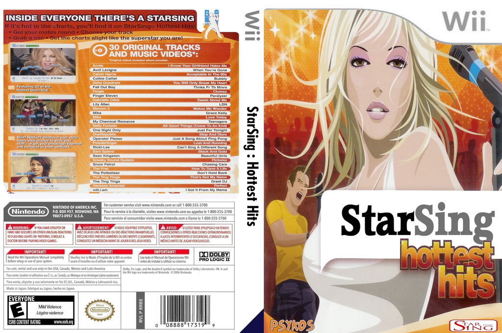 StarSing:Hottest Hits v2.0 Wii coverfullHQ (CSCPZZ)