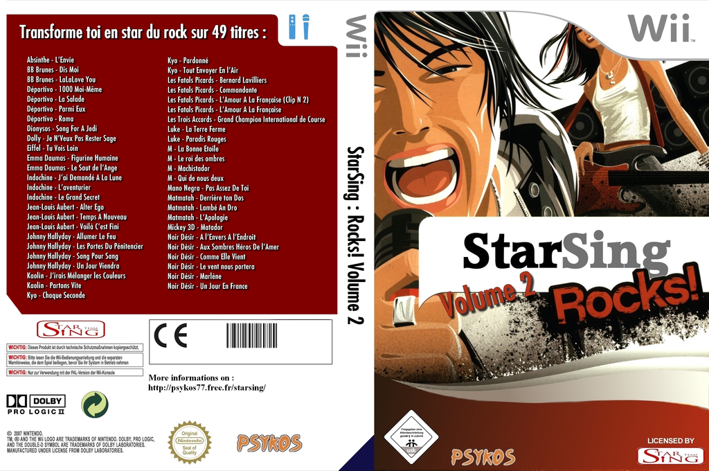 StarSing:Rocks! Volume 2 v2.0 Wii coverfullHQ (CSDP00)
