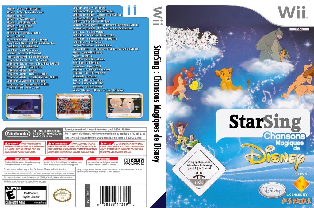StarSing:Chansons Magiques de Disney v2.0 Wii coverfullHQ (CSGP00)