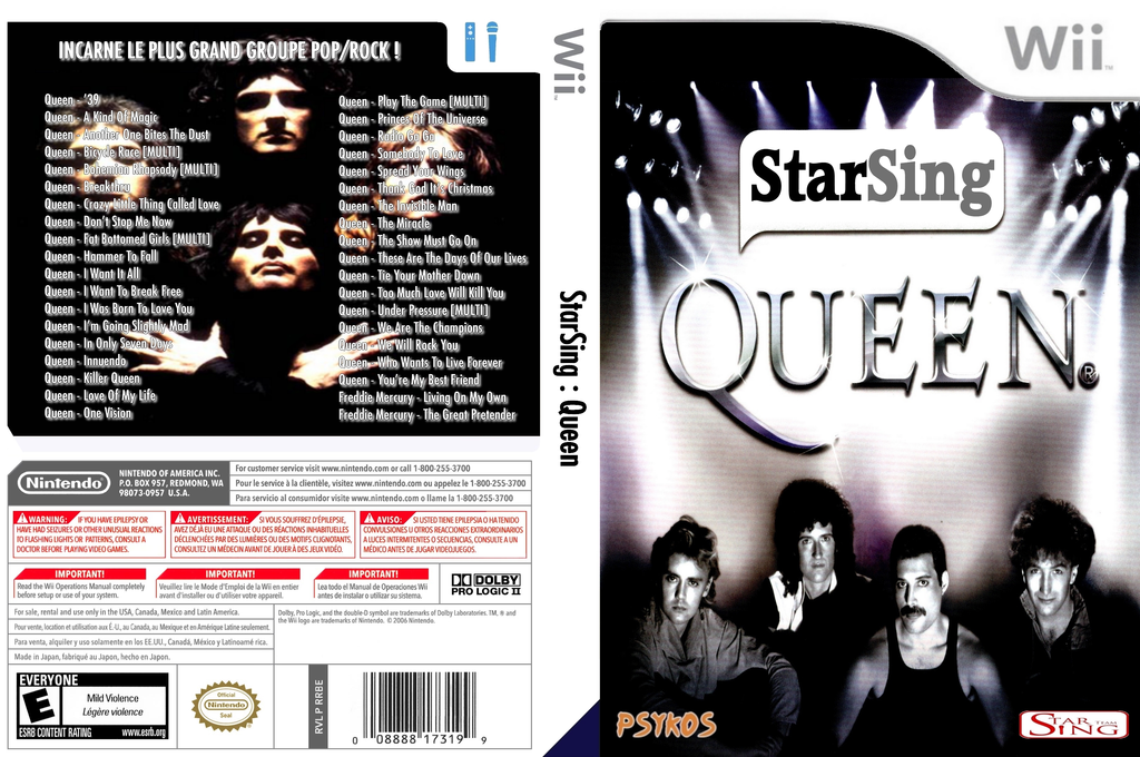 StarSing : Queen v2.0 Wii coverfullHQ (CSLP00)