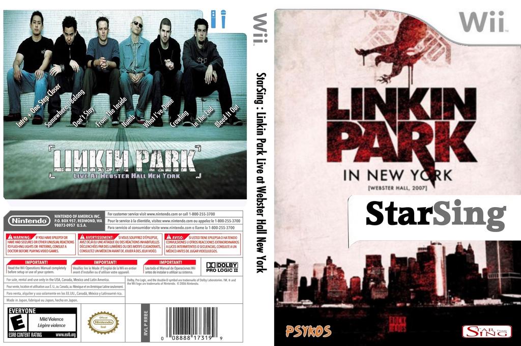 StarSing:Linkin Park Live at Webster Hall New York v2.0 Wii coverfullHQ (CSPP00)