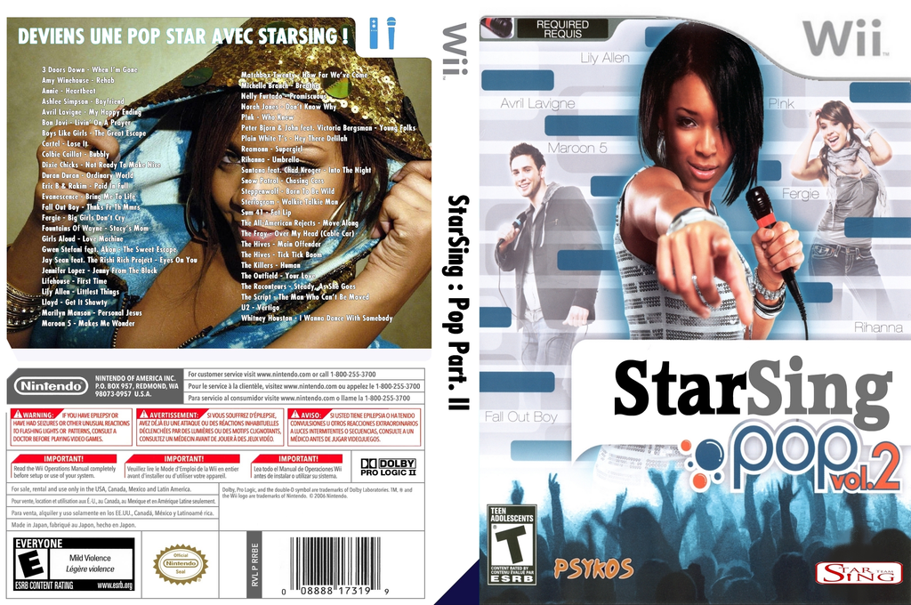 StarSing:Pop Part. II v2.1 Wii coverfullHQ (CT1P00)