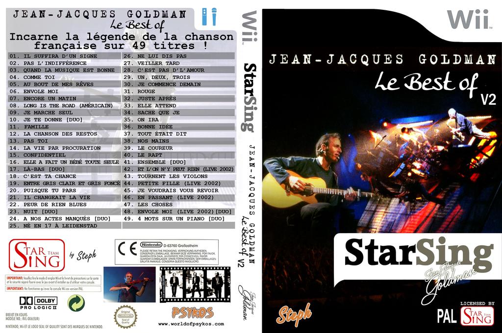 StarSing:Best of Goldman v2.0 Wii coverfullHQ (CTAP00)