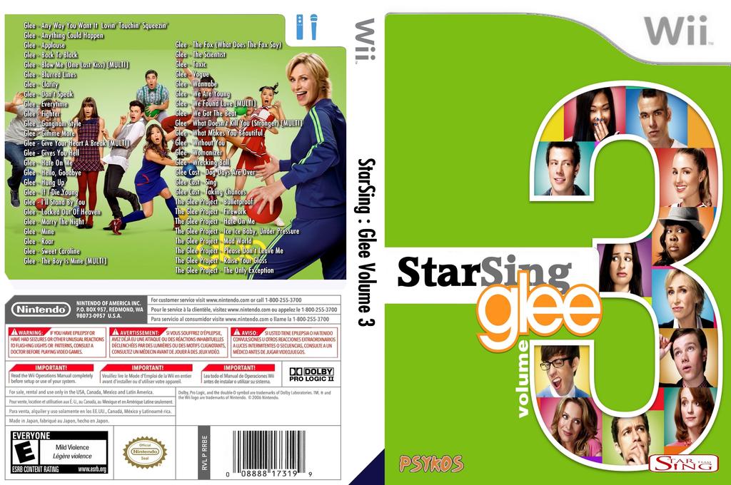 StarSing:Glee Volume 3 v1.0 Wii coverfullHQ (CTBP00)