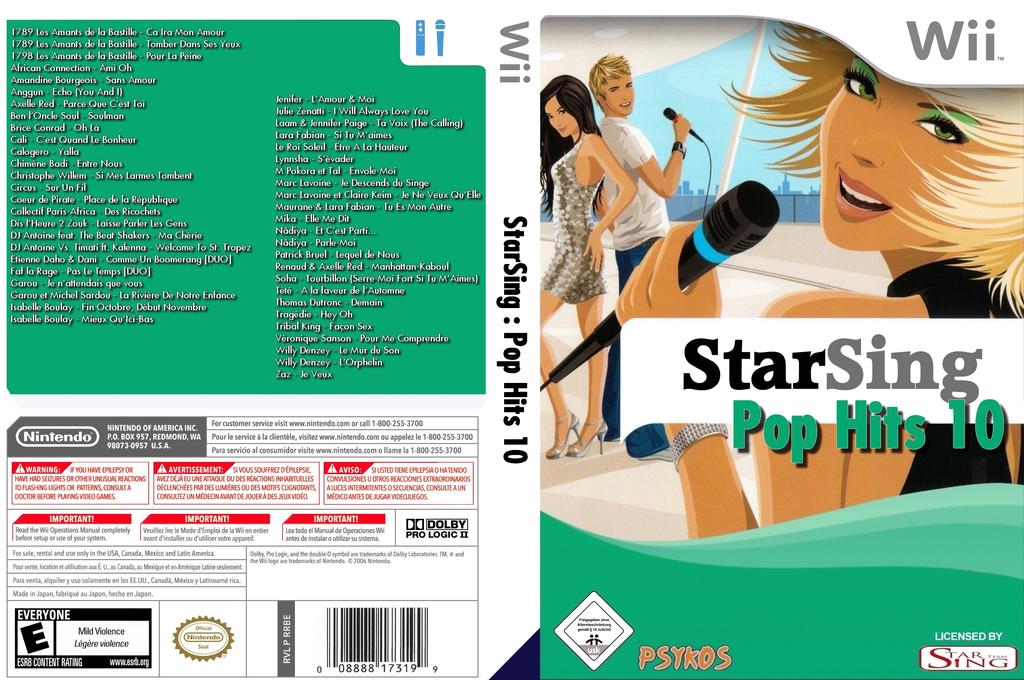 StarSing:Pop Hits 10 v2.0 Wii coverfullHQ (CTNP00)