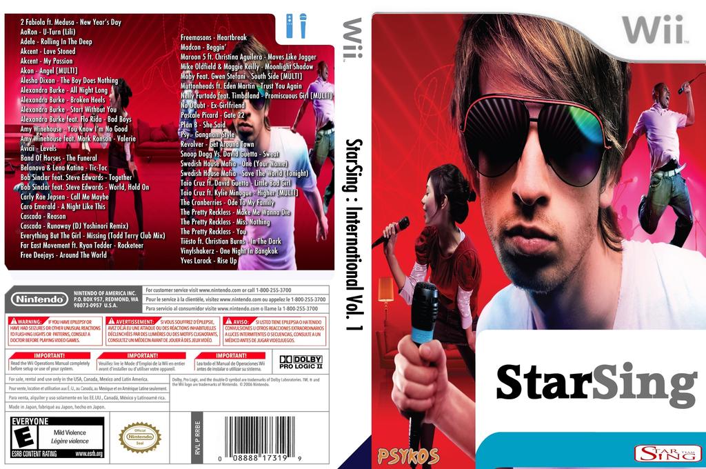 StarSing:International Volume 1 v1.0 Wii coverfullHQ (CTRP00)