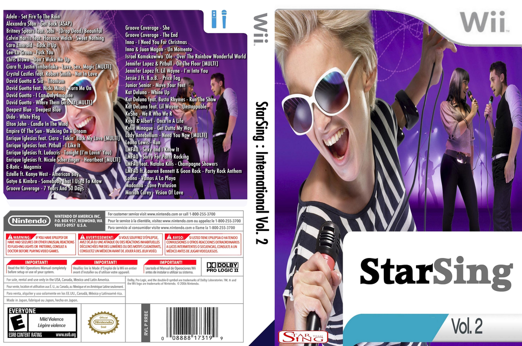 StarSing : International Volume 2 v1.0 Wii coverfullHQ (CTSP00)