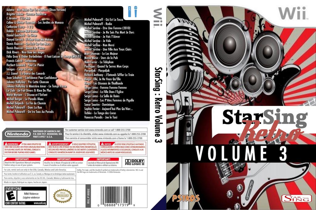 StarSing:Retro Volume 3 v1.0 Wii coverfullHQ (CU0P00)