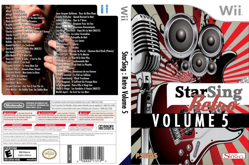 StarSing:Retro Volume 5 v1.0 Wii coverfullHQ (CU4P00)