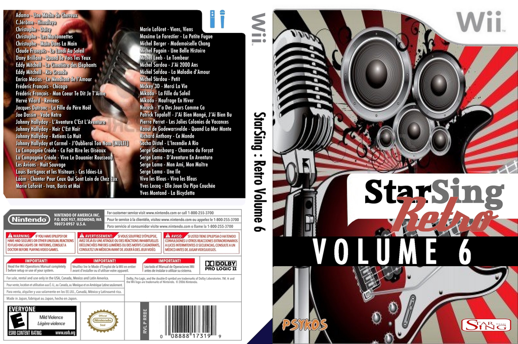 StarSing:Retro Volume 6 v1.0 Wii coverfullHQ (CU7P00)