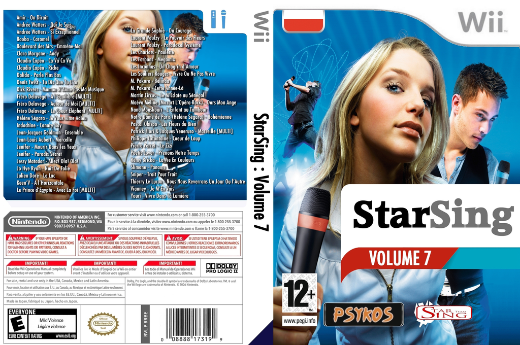 StarSing:Volume 7 v1.0 Wii coverfullHQ (CU9P00)