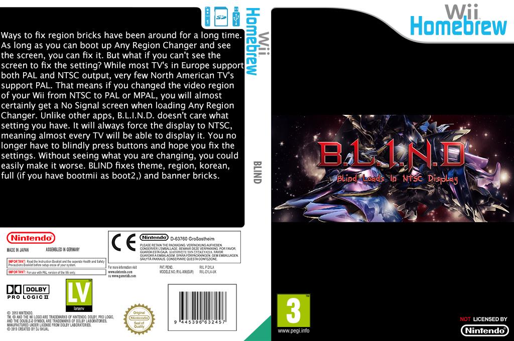 B.L.I.N.D. Wii coverfullHQ (D1LA)