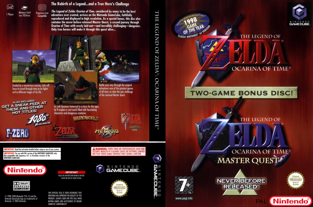 The Legend of Zelda: Ocarina of Time / Master Quest Wii coverfullHQ (D43P01)