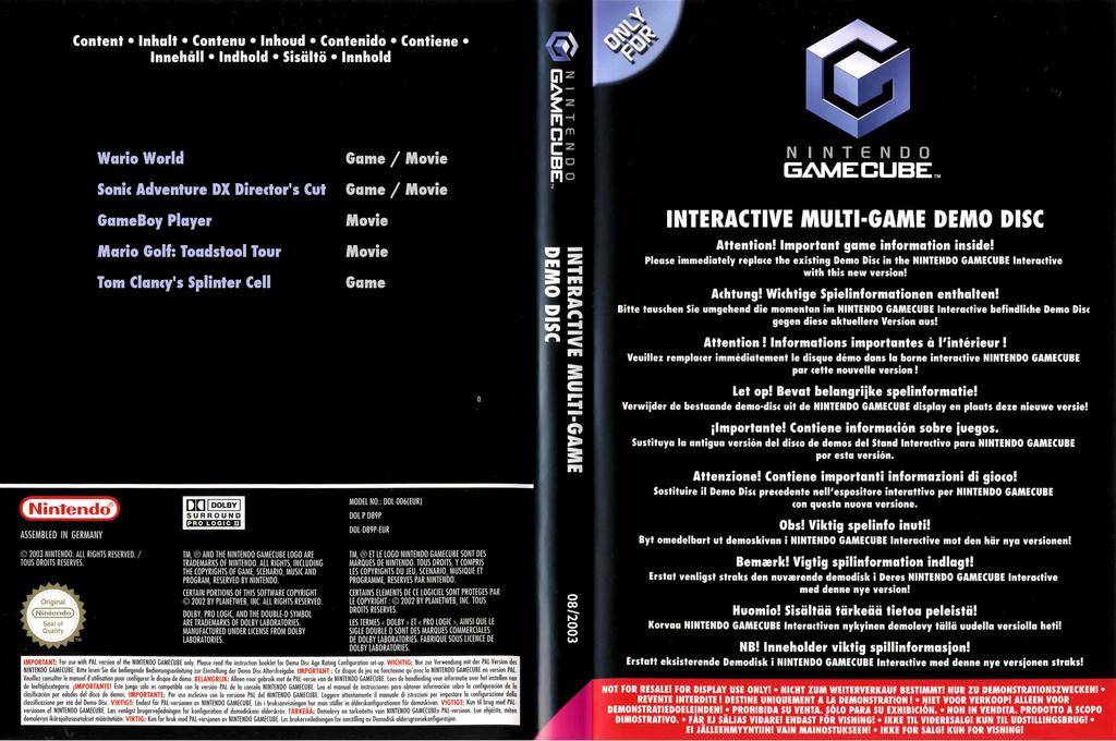 Interactive Multi-Game Demo Disc - June 2003 Wii coverfullHQ (D92P01)