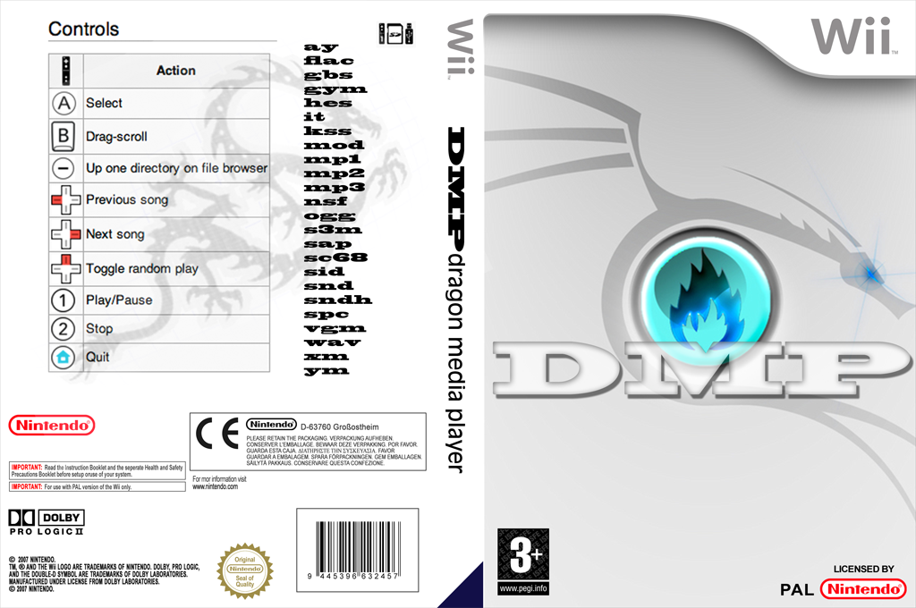 DragonMedia Player Wii coverfullHQ (DDMA)