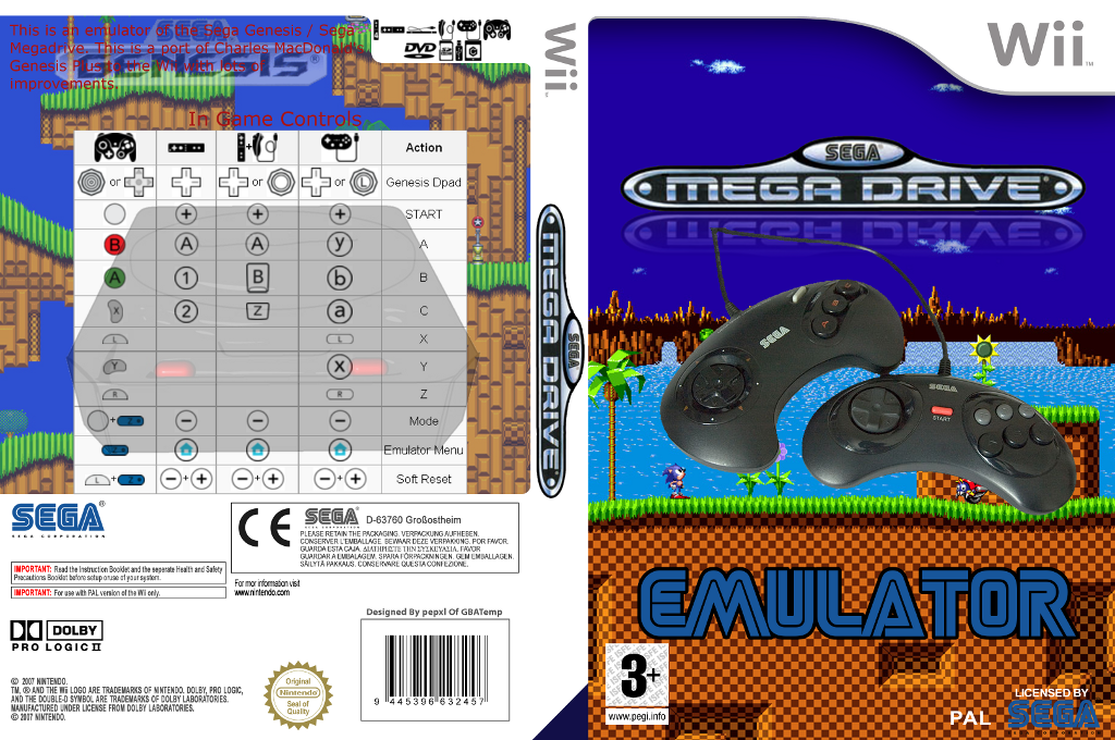 Genesis Plus Wii coverfullHQ (DGPA)