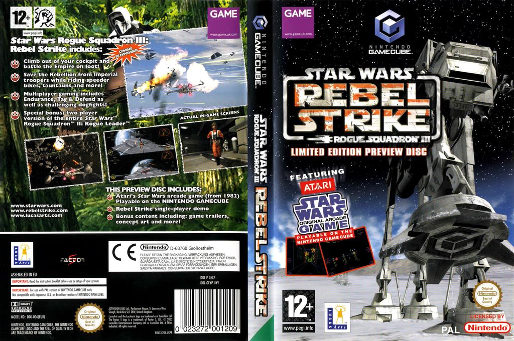 Star Wars: Rogue Squadron III: Rebel Strike: Limited Edition Bonus Disc (Demo) Wii coverfullHQ (DLSP64)