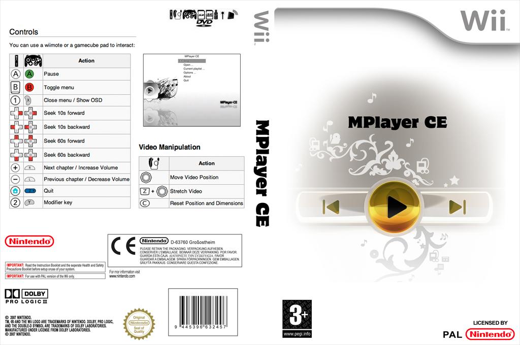 MPlayer CE Wii coverfullHQ (DMPA)