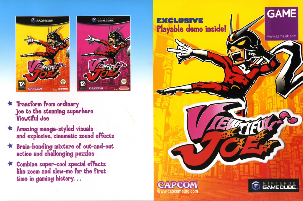 Viewtiful Joe (Promotional demo) Wii coverfullHQ (DVJP08)