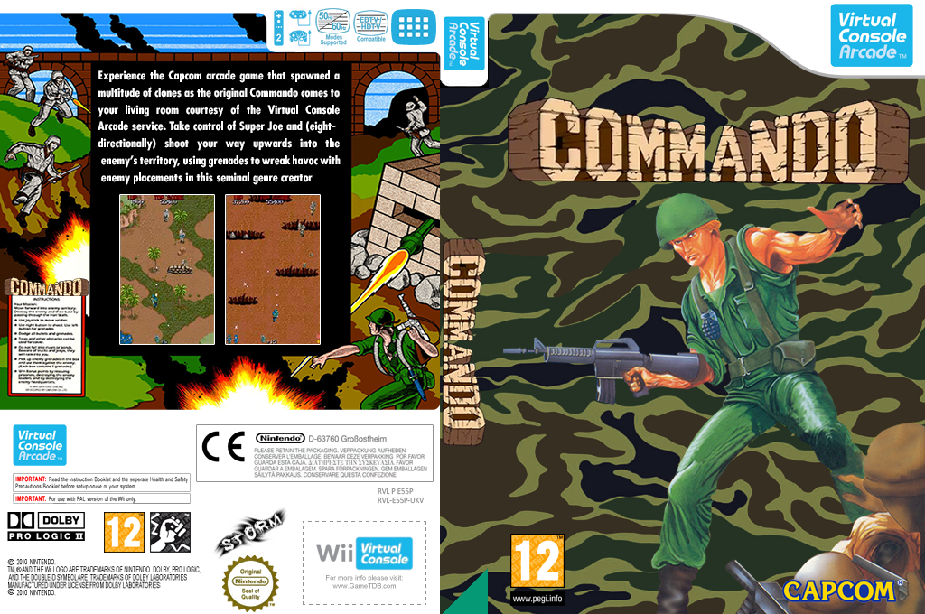 Commando Wii coverfullHQ (E55P)