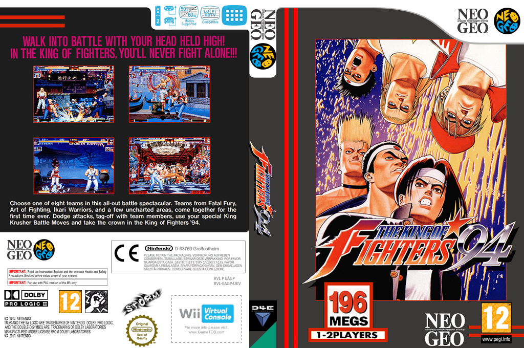 The King of Fighters '94 Wii coverfullHQ (EAGP)