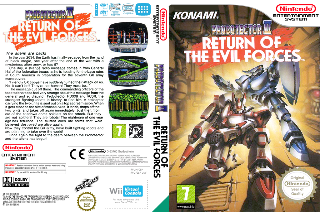 Probotector II: Return of the Evil Forces Wii coverfullHQ (FCSP)