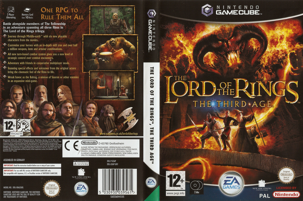 The Lord of the Rings: The Third Age Wii coverfullHQ (G3AP69)