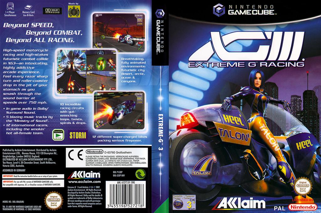 XGIII:Extreme G Racing Wii coverfullHQ (G3EP51)