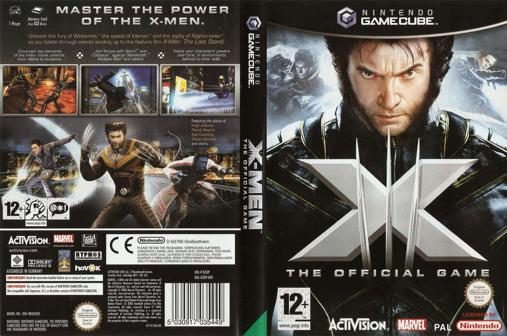 X-Men: The Official Game Wii coverfullHQ (G3XP52)