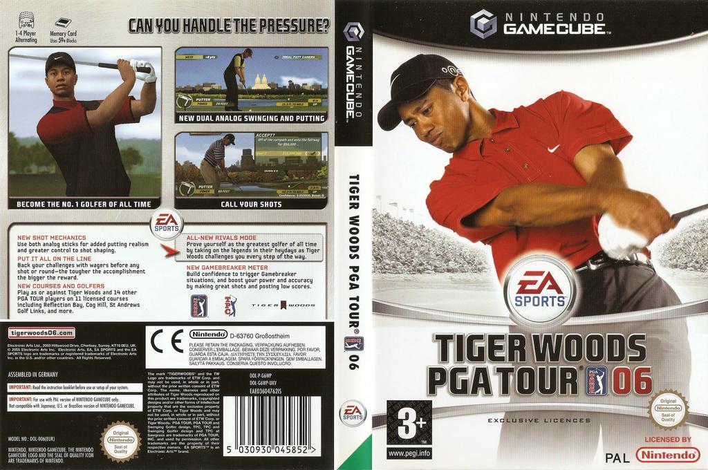 Tiger Woods PGA Tour 06 Wii coverfullHQ (G6WP69)