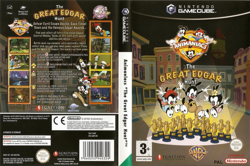 Animaniacs: The Great Edgar Hunt Wii coverfullHQ (GANP7U)