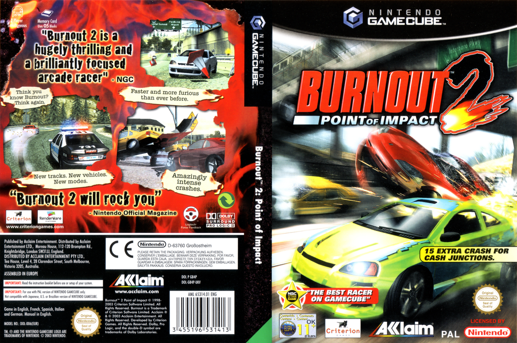 Burnout 2: Point of Impact Wii coverfullHQ (GB4P51)