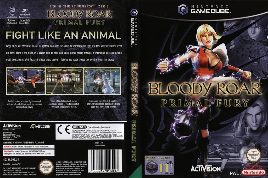 Bloody Roar: Primal Fury Wii coverfullHQ (GBLP52)