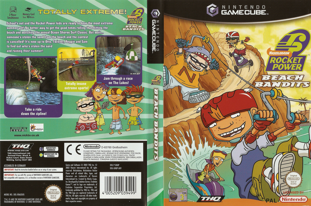 Rocket Power: Beach Bandits Wii coverfullHQ (GBQP78)