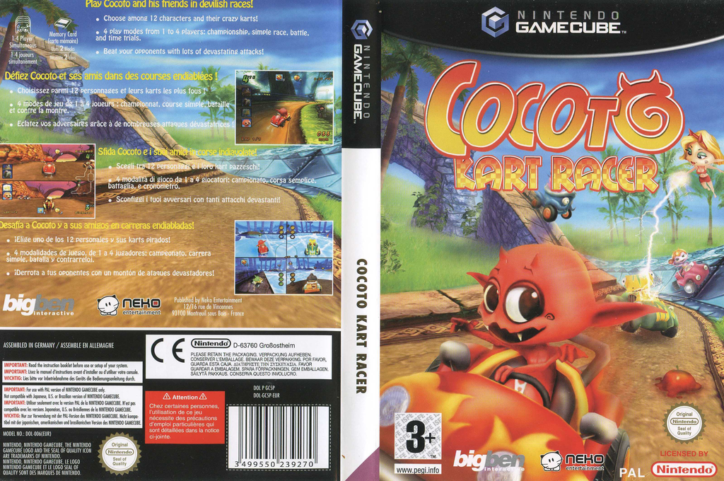 Cocoto: Kart Racer Wii coverfullHQ (GC5PNK)