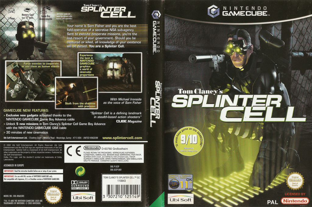 Tom Clancy's Splinter Cell Wii coverfullHQ (GCEP41)