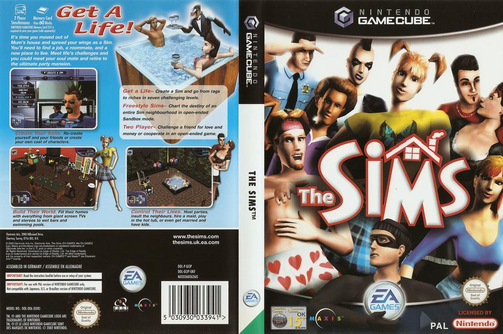 The Sims Wii coverfullHQ (GCIP69)