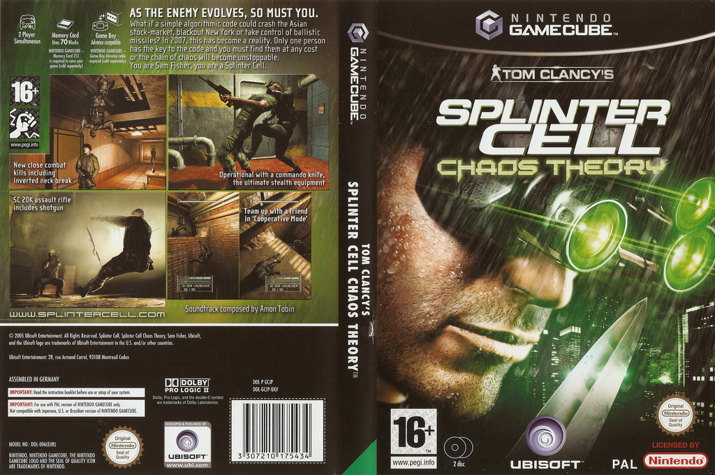 Tom Clancy's Splinter Cell: Chaos Theory Wii coverfullHQ (GCJP41)