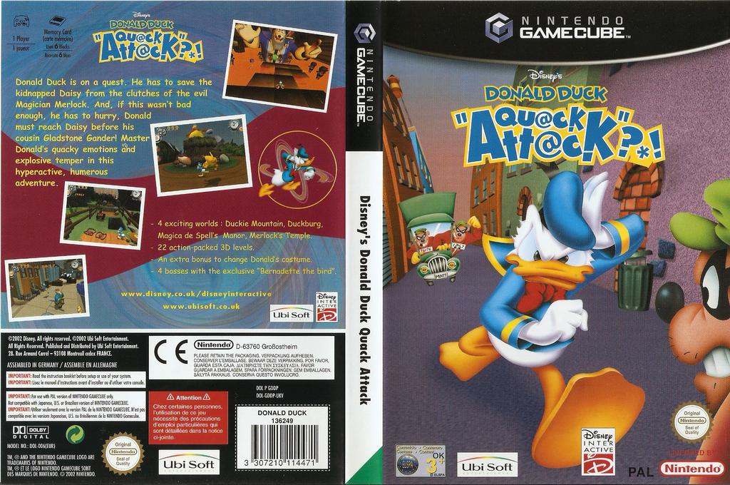 Disney's Donald Duck:Qu@ck Att@ck Wii coverfullHQ (GDDP41)