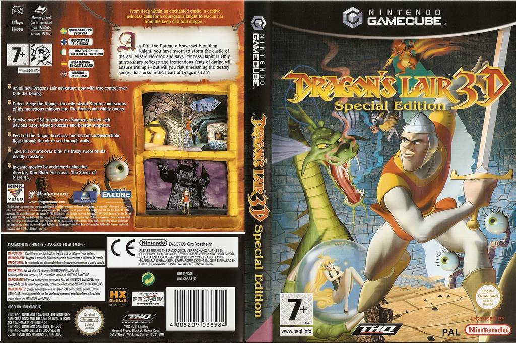 Dragon's Lair 3D Special Edition Wii coverfullHQ (GDGP78)