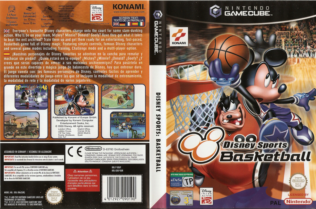 Disney Sports: Basketball Wii coverfullHQ (GDLPA4)