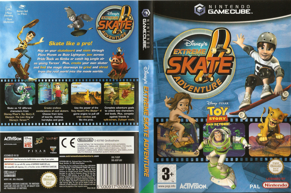 Disney Extreme Skate Adventure Wii coverfullHQ (GEXP52)