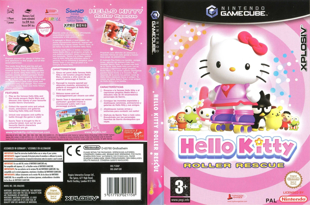 Hello Kitty:Roller Rescue Wii coverfullHQ (GH6P7N)