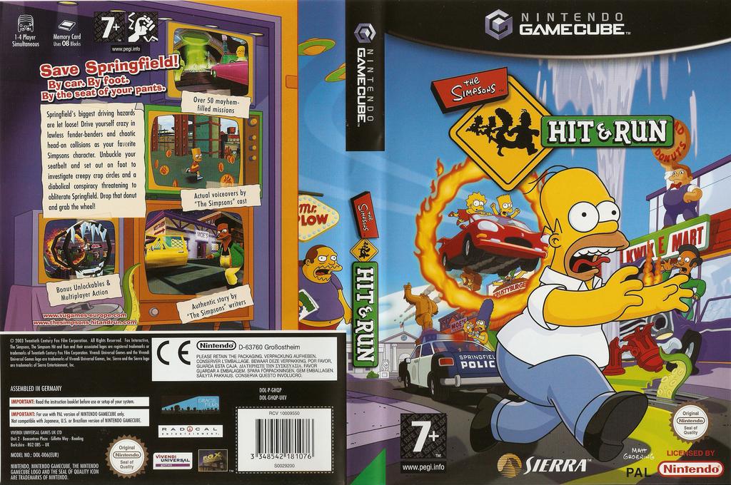 The Simpsons: Hit & Run Wii coverfullHQ (GHQP7D)